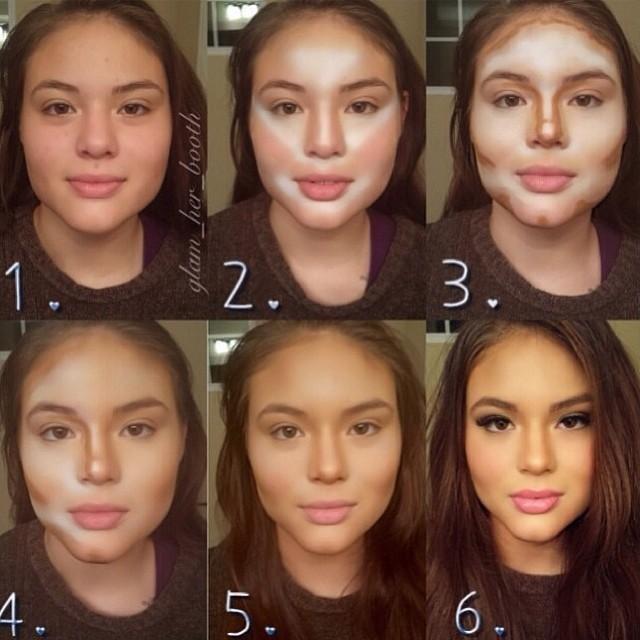 الكونتورينغ أو تحديد معالم الوجه