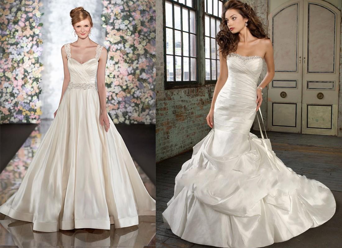 فستان زفاف ذات قماش الحرير