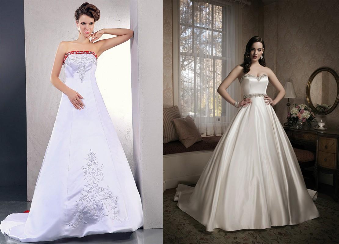فستان العرايس من قماش الساتان