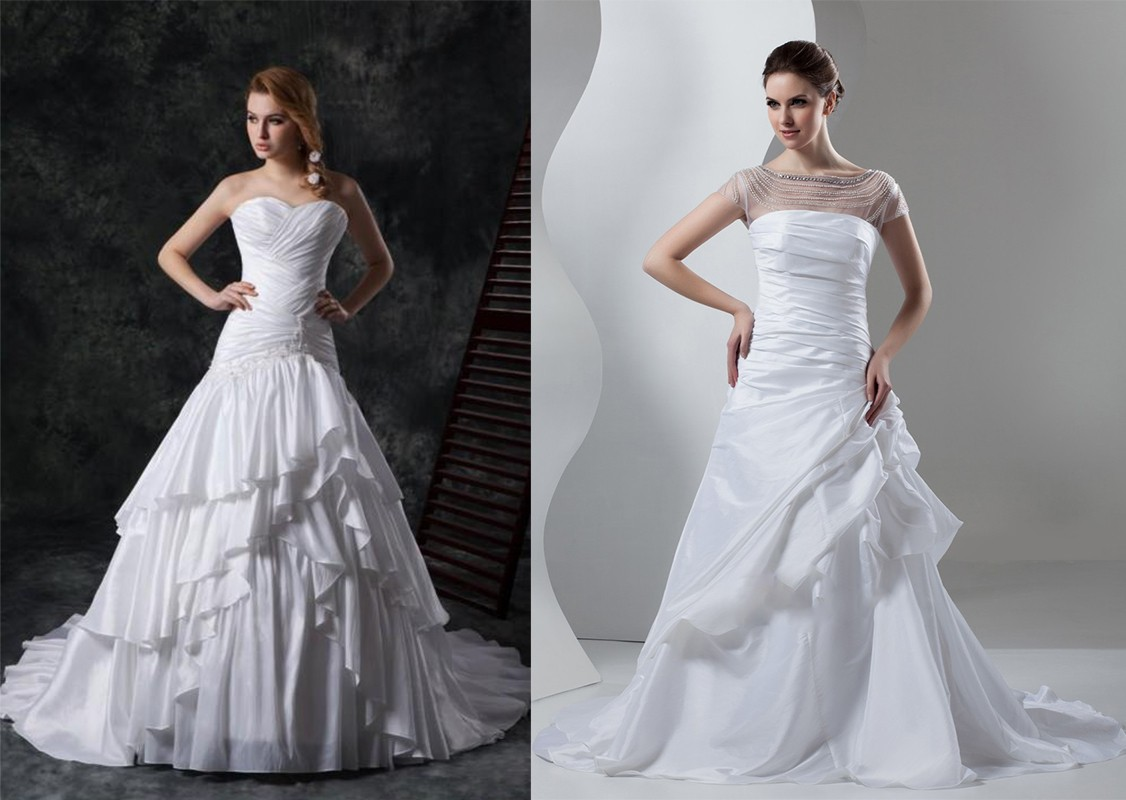 فستان زفاف ذات قماش التول