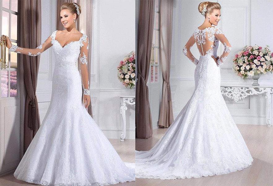 فستان زفاف عروس البحر