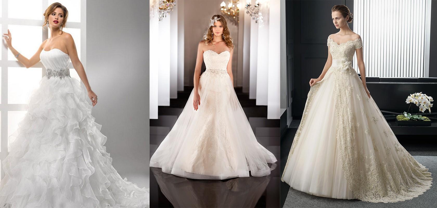 أشكال تنورة فستان العروس