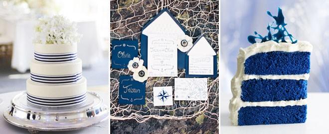 كيكة الزفاف وبطاقة الدعوة