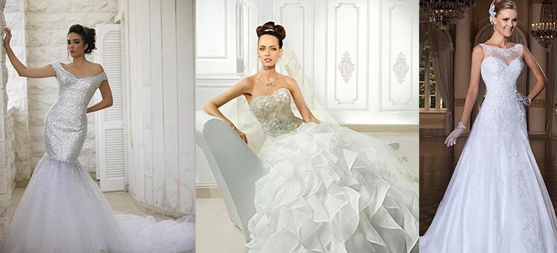 فساتين زفاف باللون العاجي
