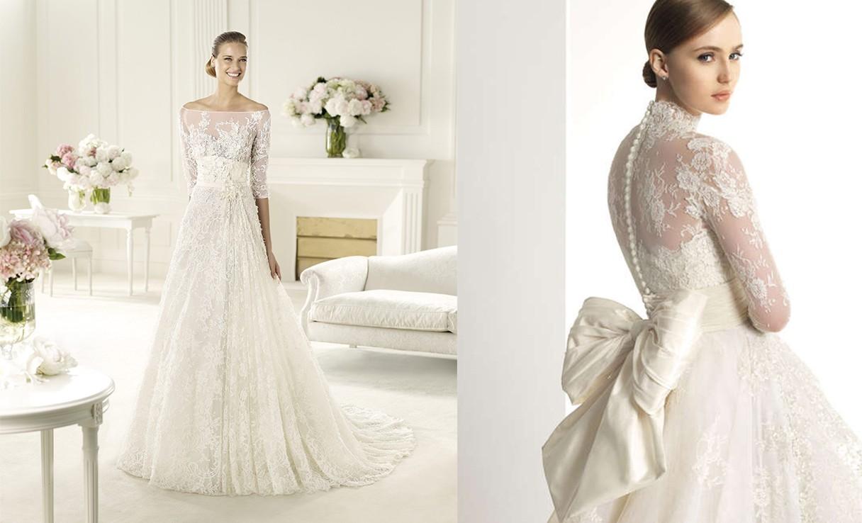 أجمل فساتين زفاف الدانتيل