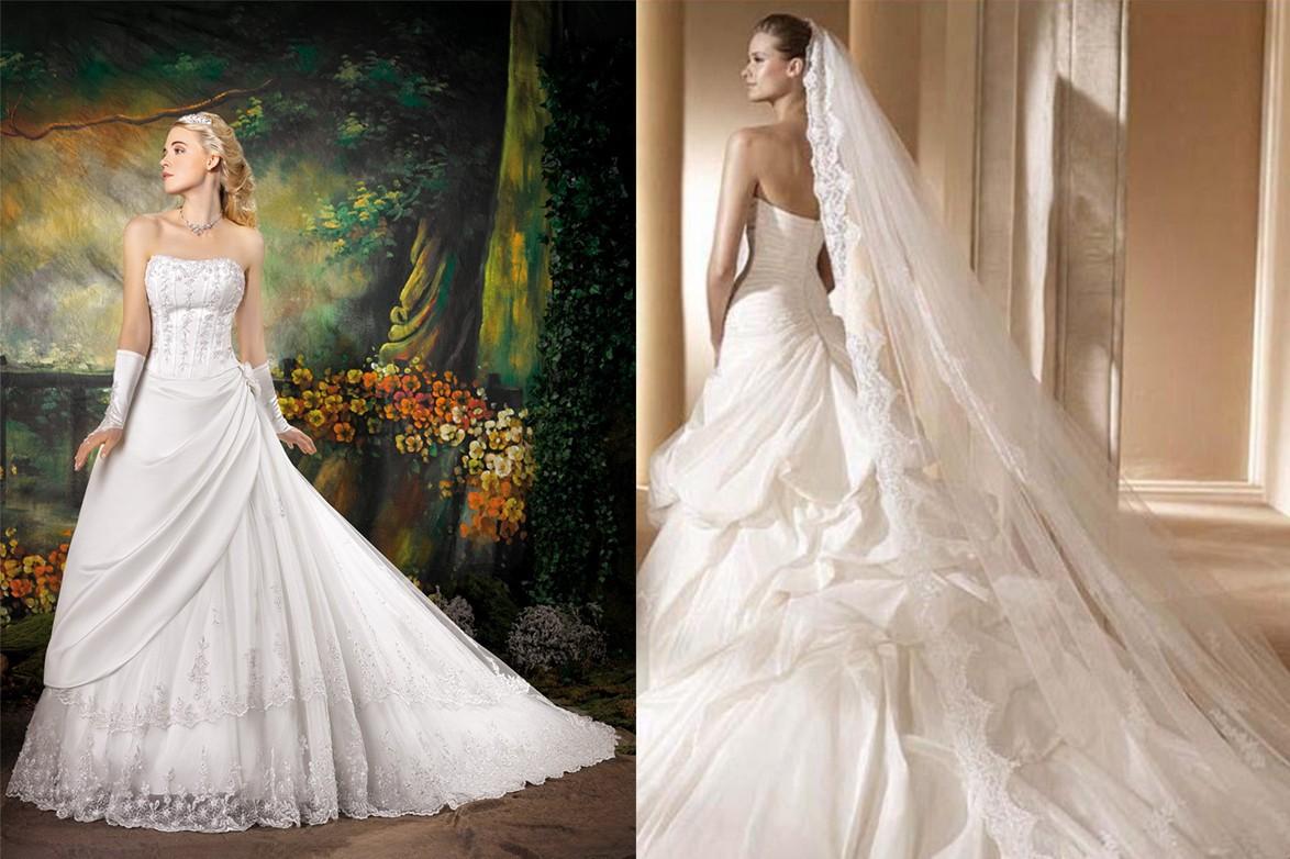 فساتين زفاف للعروس الطويلة