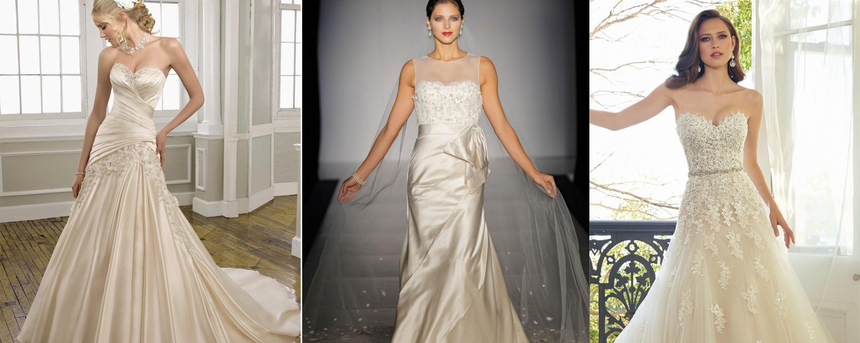 أجمل فساتين زفاف عاجية