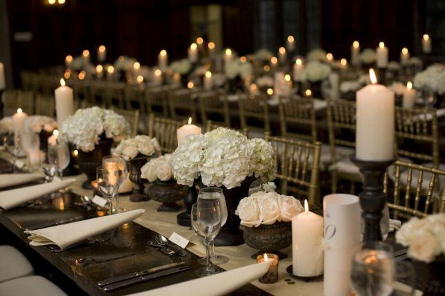 تزيين الطاولات في حفل الزفاف