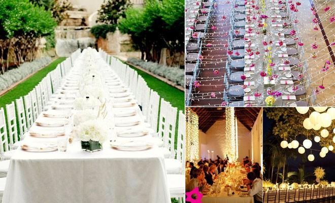 طاولات الزفاف
