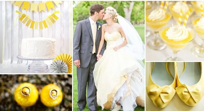 فستان خطوبة أصفر