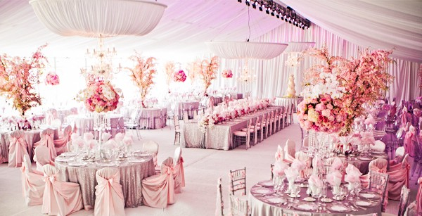 الديكورات في حفلات الزفاف