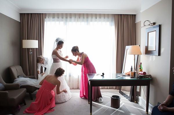 لحظات ما قبل الزفاف