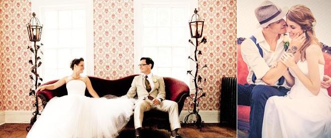 الجلوس على أريكة كلاسيكية