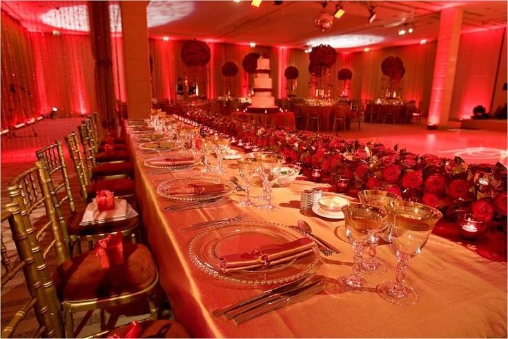 حفل زفاف أحمر