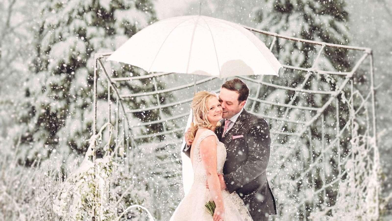 صور الزفاف في الشتاء