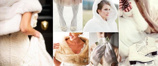 اكسسوارات العروس في حفل الشتاء