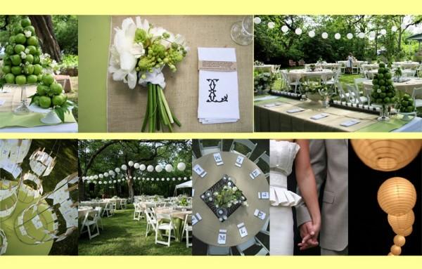 حفل زفاف اخضر