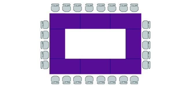 الطاولات التي تأخذ شكل مربع