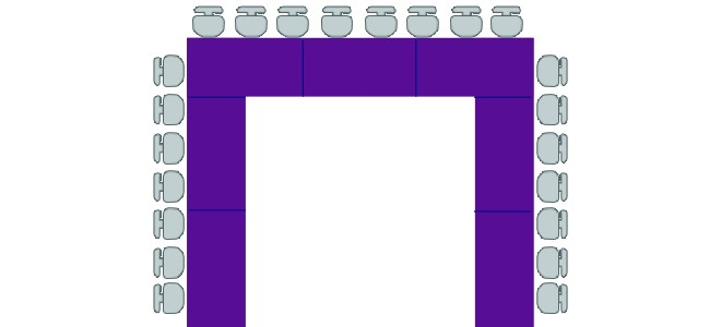 طاولات المدعوين