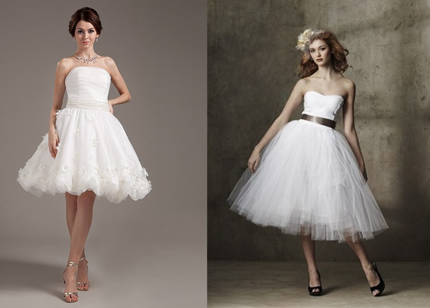 فستان زفاف سترابلس قصير