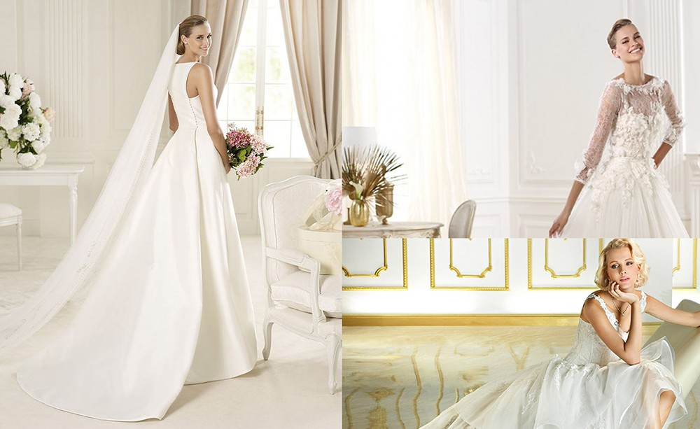 أجمل فساتين الزفاف