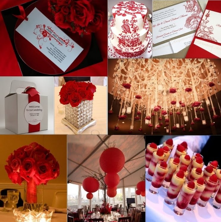 الاحمر في حفلات الزفاف