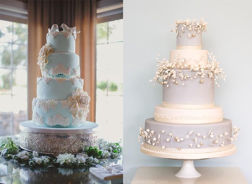 أجمل أشكال كيكات الزفاف