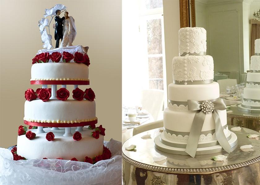 اختيار كيك الزفاف