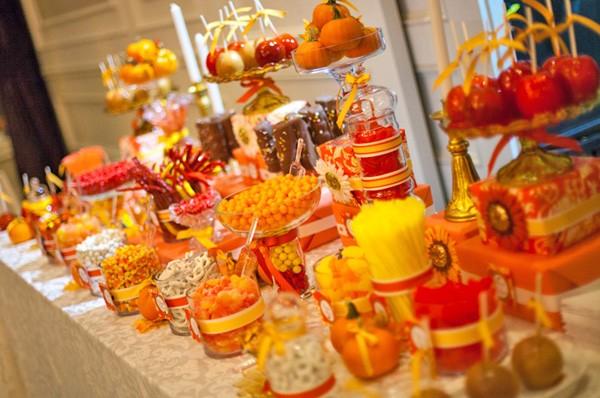 البرتقالي في ديكورات الزفاف
