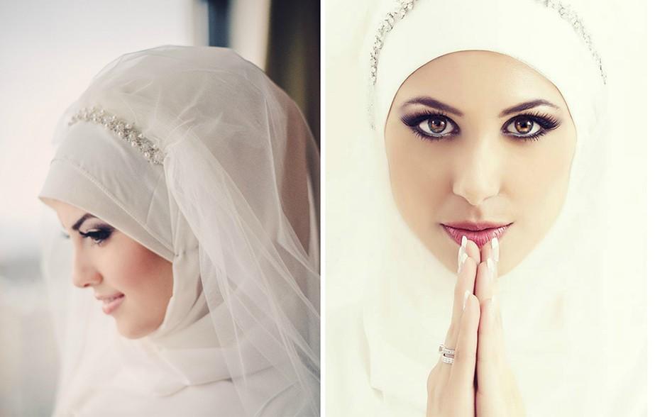 أجمل الطرحات للعروس المحجبة