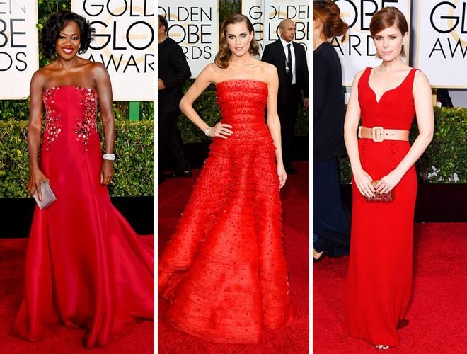 الفساتين الحمراء