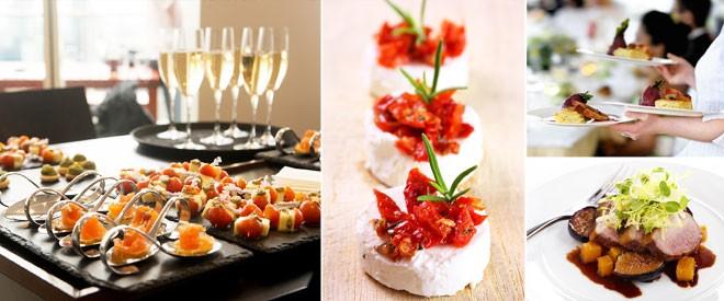 اطباق حفلات الزفاف