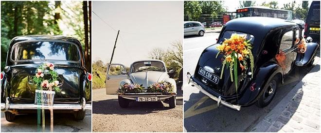 تزيين سيارة الزفاف