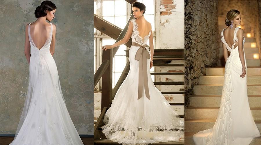 أروع فساتين الزفاف المكشوفة