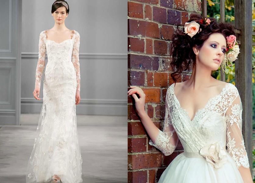 9717e4f6f2d14 أجمل تصاميم فستان فرح بأكمام طويلة