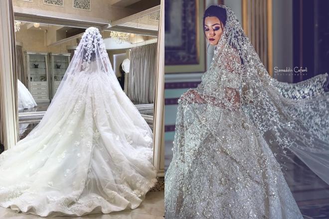طرحة عروس الطويلة